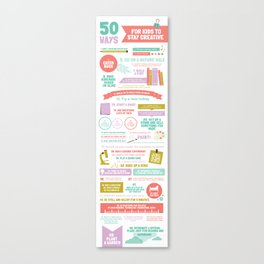 50 Ways For Kids to Stay Creative Canvas Print