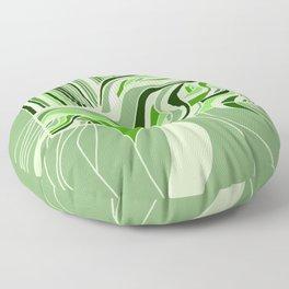 Swell Green Monochrome Floor Pillow
