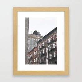 New York City corners, fire escapes, ladders fine art , nyc, America, photo Framed Art Print