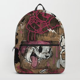 THE CARTOON CAT PINK Backpack