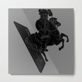 LAST CARD IN THE DECK BLACK Metal Print