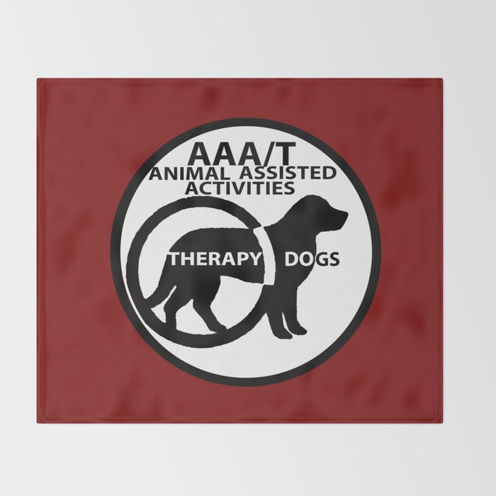 Animal Assisted Activities  - THERAPY DOG logo 15 Throw Blanket