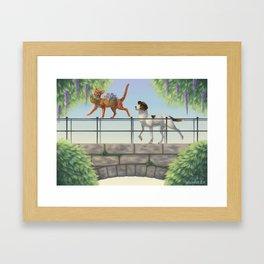 Seeing a Friend Framed Art Print