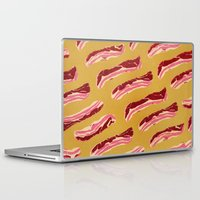 bacon Laptop & iPad Skins featuring Bacon, Bacon, Bacon. by Hillary Sroufe