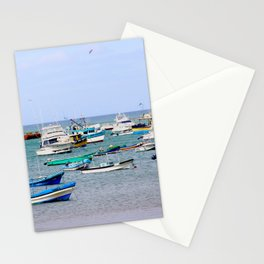 fishing boats Stationery Cards