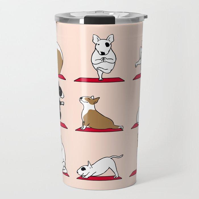 Bull Terrier Yoga Travel Mug