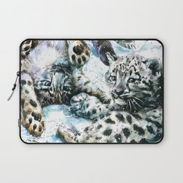 Little snow leopards Laptop Sleeve