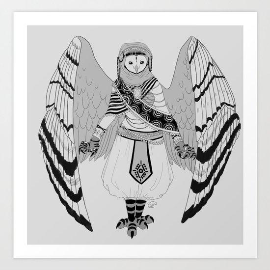 Owl of Wisdom Art Print