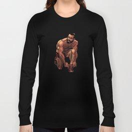 Shirtless Jogger Long Sleeve T-shirt