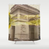 fault Shower Curtains featuring The Fault in Triumph by ZEROCOOOOOL