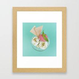 Pistachio & Strawberry Ice-cream Framed Art Print