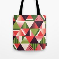 watermelon Tote Bags featuring watermelon by Gray