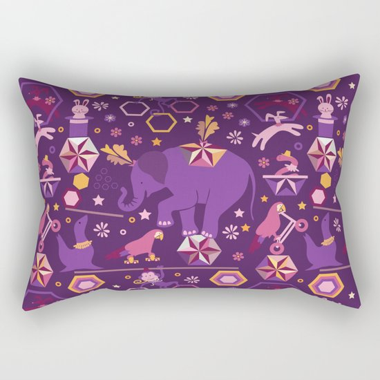 Hexagon circus Rectangular Pillow