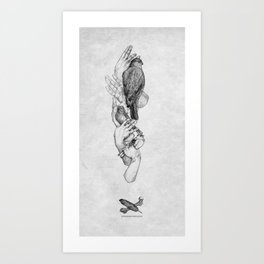 Birdhands Art Print
