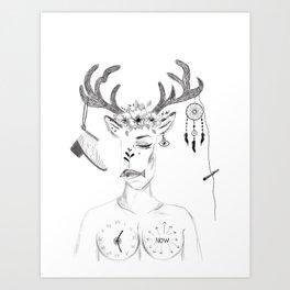 woman in society Art Print