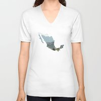 mexico V-neck T-shirts featuring Mexico by Isabel Moreno-Garcia