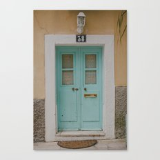 Mint Door Canvas Print