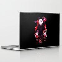 tokyo ghoul Laptop & iPad Skins featuring Kaneki Tokyo Ghoul 4 by Prince Of Darkness