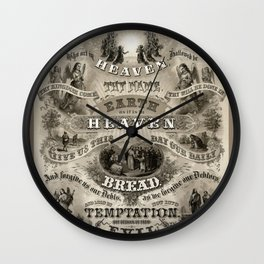 The Lords Prayer - Vintage Christian Art Wall Clock