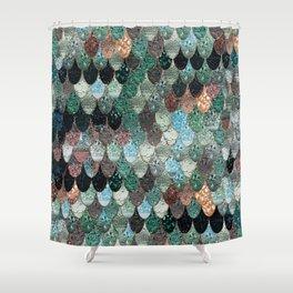 aqua and brown shower curtain. SUMMER MERMAID SEAWEED MIX by Monika Strigel Shower Curtain Mermaid Curtains  Society6