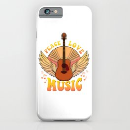 Cute Peace Love Music Hippie Hipster Festival iPhone Case
