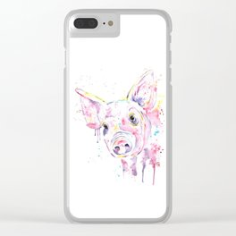 Pig - This Little Piggy Clear iPhone Case