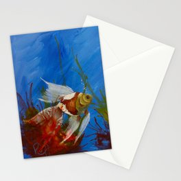 When Fish Do Play In An Abstract Way Stationery Cards