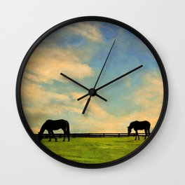 Sunrise Graze Wall Clock