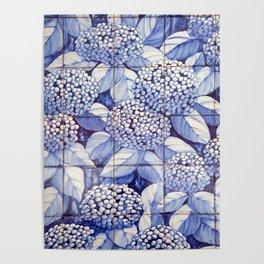 Floral tiles Poster