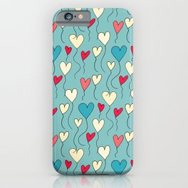 Cute Heart Balloon Blue #Valentines iPhone Case