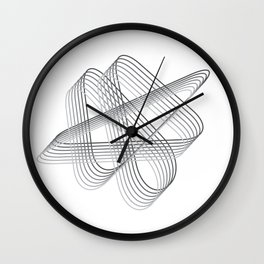 Neverending lines Wall Clock