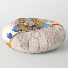Polly Patchwork's Sewing Company Floor Pillow