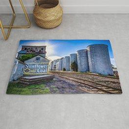 Sunflower Coal Grain Elevator Rug