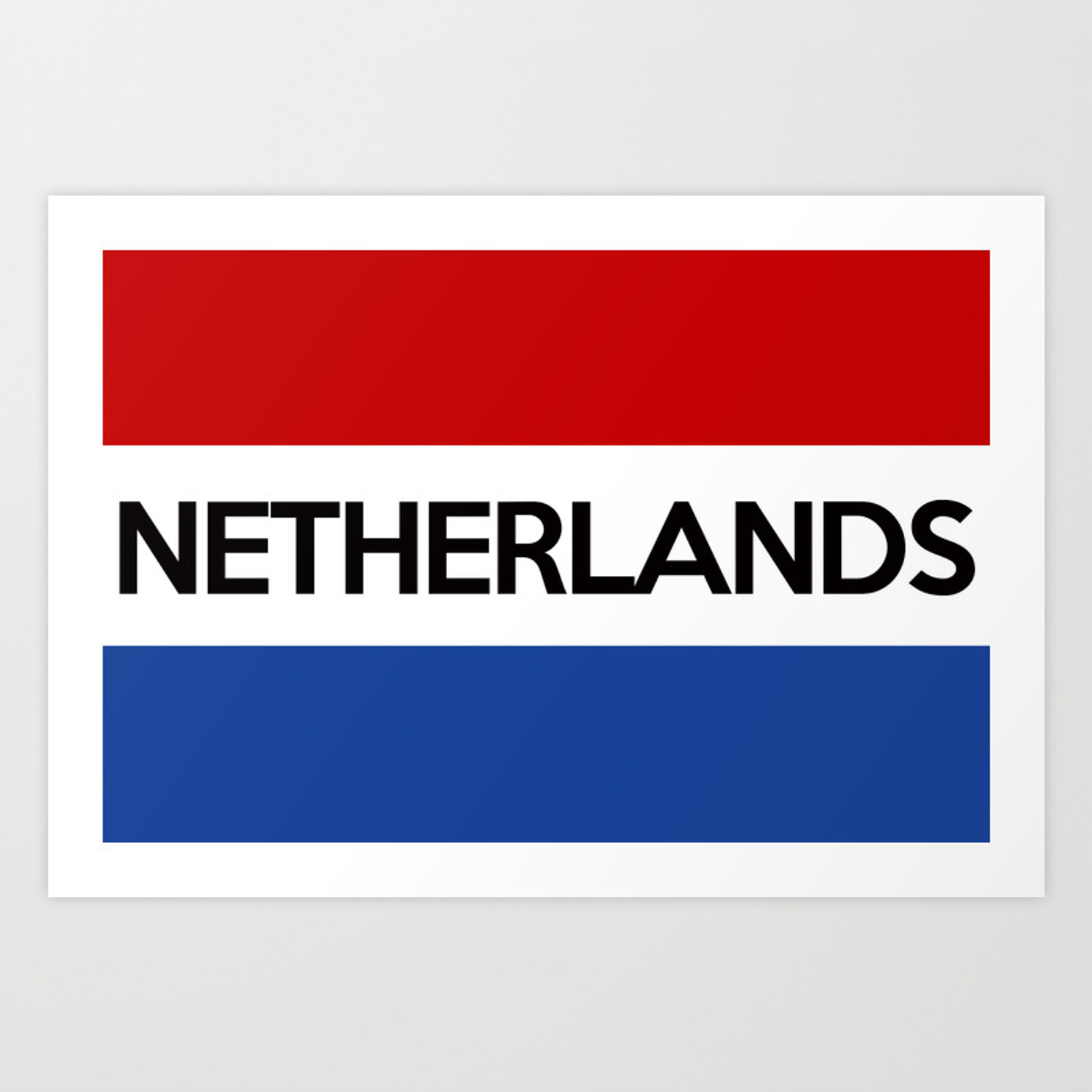 netherlands country flag name text Art Print by tony4urban | Society6