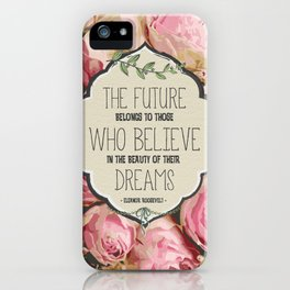 The Future of Peonies iPhone Case