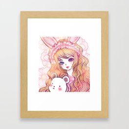 bunbunjii goldhair *GirlsCollection* Framed Art Print