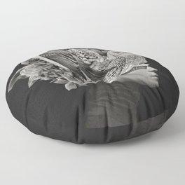 Lady with Birds(portrait) Floor Pillow