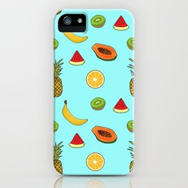 Tropical Fruity Summer Pattern iPhone Case