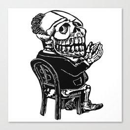 Capitalist Skull Canvas Print