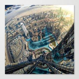 On top of the world, Burj Khalifa, Dubai, UAE Canvas Print