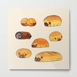 Bread Pugs Metal Print