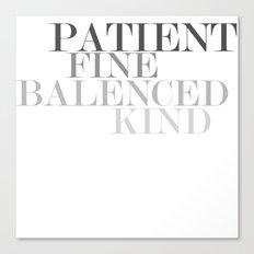 Skinny Love Typography Canvas Print