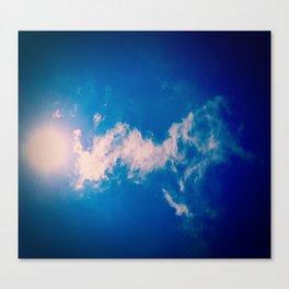 When the sun meets the cloud Canvas Print