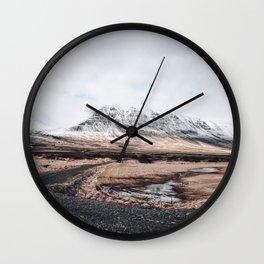 Icelandic landscape Wall Clock