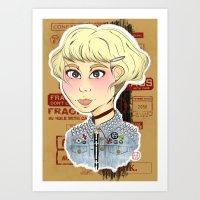 Punnk girl Art Print