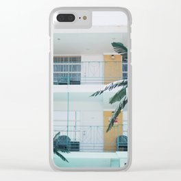 Retro Motel in Wildwood, New Jersey Clear iPhone Case