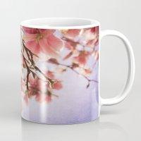 magnolia Mugs featuring Magnolia  by KunstFabrik_StaticMovement Manu Jobst