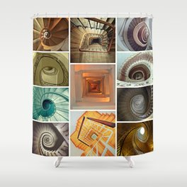 stairs stairs stairs collage Shower Curtain