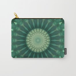Dark and light green mandala Carry-All Pouch