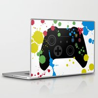 xbox Laptop & iPad Skins featuring Controller Graffiti XBox One by AngoldArts